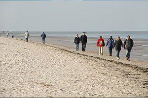 sportlich aktiv an der Nordsee